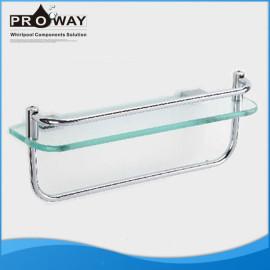 Cromo de aluminio para ducha estante de toalla de aluminio