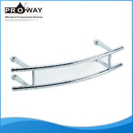 220 x 45 mm de acero inoxidable cuarto de baño ducha de la cortina