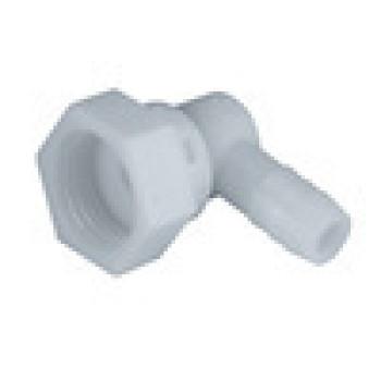 10 mm POM blanco de agua de la ducha de conexión tornillo de 1/2