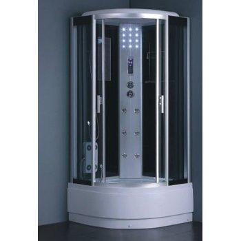 Alta tecnología de gris templado del vidrio delantero con ducha de vapor