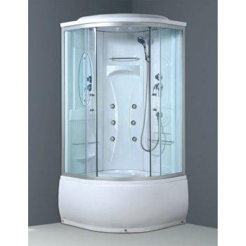 Buen precio 5 mm claro templado cuarto de ducha de vidrio