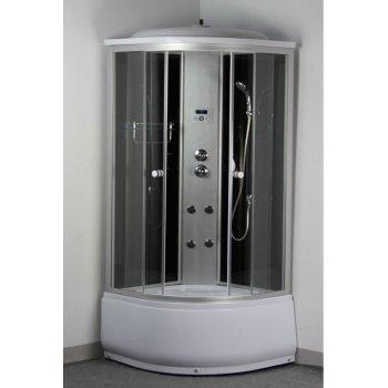 900 x 900 x 2150 mm satén de aluminio de plata de cabina de ducha