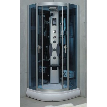 900 * 900 * H2200mm completa de vidrio portátil de vapor