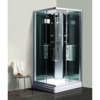 4 mm negro pintado volver cristal cubierta superior ducha