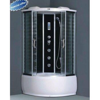 Cristal blanco pintado compacto cabina de ducha