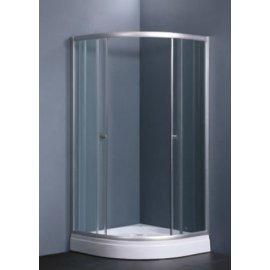 800 x 800 x 1950 mm satén de plata de aluminio cuarto de ducha Simple para el hogar