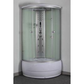 5 mm blanco pintado volver vidrio infrarrojo cabina de ducha de vapor