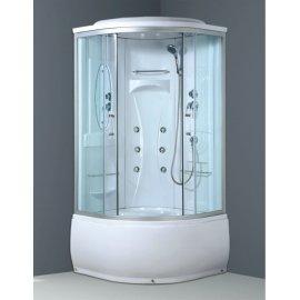 8029 5 mm templado transparente de porcelana de vidrio cabina de ducha