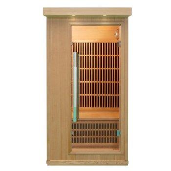 Con fuera de la luz hermosa sala de Sauna
