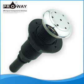 Negro PVC body 25 mm diámetro para bañera piscina de chorro de aire
