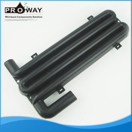 Negro prevenir la parte posterior de flujo de agua de la bañera piezas de PE de seguridad de lazo