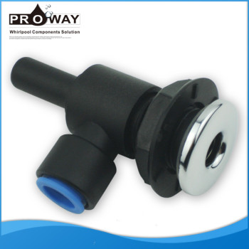 Negro PVC Body D28mm cubierta bañera piezas de la parte posterior plana de chorro de masaje