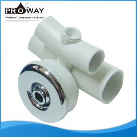 Wj-0006 blanco PVC cuerpo métrica Whirlpool tablero de chorro de agua