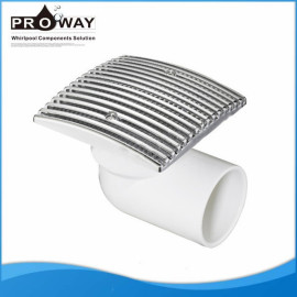 Bañera de componentes de circulación de agua PVC de succión