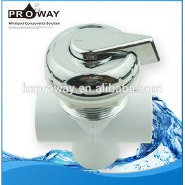 Va-002 PVC bañera piezas de botón de la válvula de agua