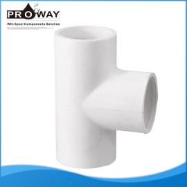 Pieza en T 50 mm conector para baño de suministro de agua de PVC Pipe Fitting