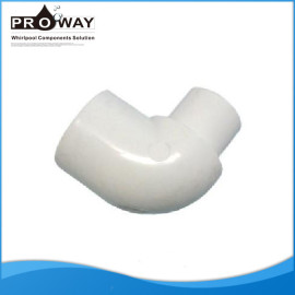 Blanco 20 mm de suministro de China PVC codo