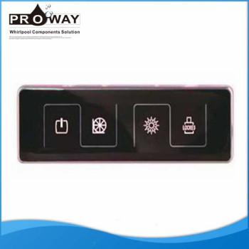 Bañera de hidromasaje de componentes de masaje de agua luz de Control de la