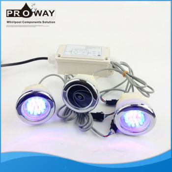 Bañera de hidromasaje de luz LED con caja de Control CE aprobado Whirlpool bajo el agua de la lámpara
