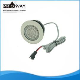 Bañera de hidromasaje LED de luz automático cambiando la lámpara subacuática