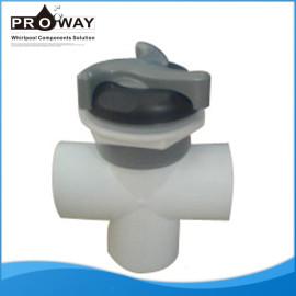 V2717 PVC Body 3 Way SPA piezas de eléctrica de la válvula