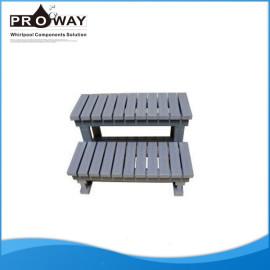 Alta calidad de China 87 X 49.5 X 58.5 cm PS Material de gorro de baño de la piscina escalera