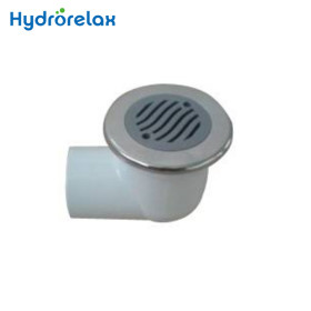 Stainless Steel Cover+PVC Body Low Profile Bathroom Waste Drainer suction