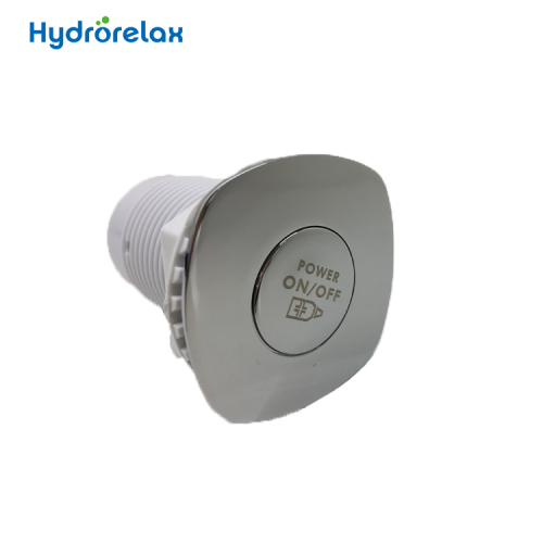 Chrome-plated Brass cap Whirlpool System Spa Pool Massage PVC Bathtub Air push button