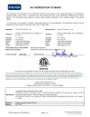 ETL-Zertifikat für Heckenschere