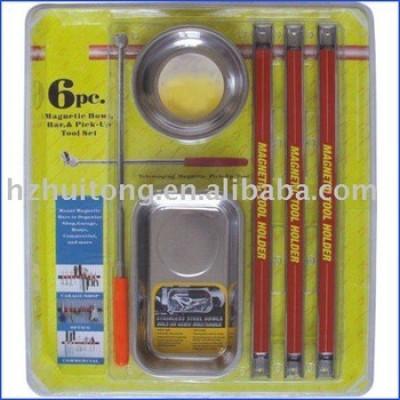 6 pc magnétique plateau, Porte - outil et pick - up tool Set
