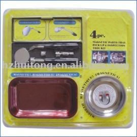 4 pc magnétique plateau, Pick - up outil et d'inspection télescopique miroir ensemble