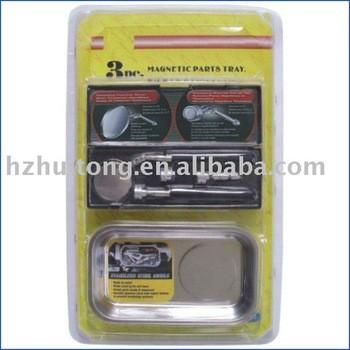 3 pc magnétique plateau, Pick - up outil, Miroir d'inspection télescopique Tool set