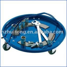 Ronde magnétique pièces plateau roulettes
