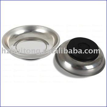 En acier inoxydable circulaire magnétique pièces plateau