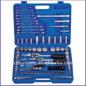 121-Piece 1/4, 3/8, 1/2 lecteur Standard / clé à douille métrique définie