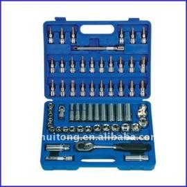 62-Piece 3/8 - pouces Standard et métrique Socket et Bit Socket Wrench Set