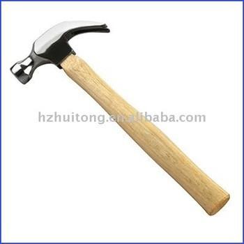 American type claw hammer avec poignée en bois dur