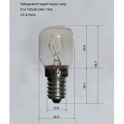 E14 15W CE approved refrigerator bulb/lamp