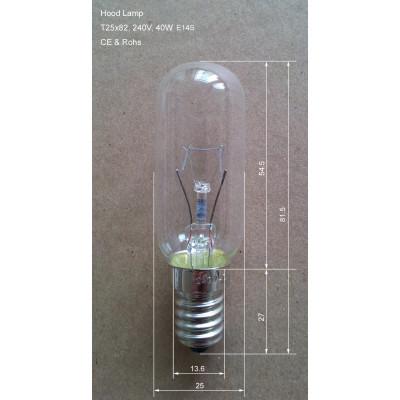 Cooker Hood Lamp Light Bulb,40W, E14 Base, 240V hood lamp
