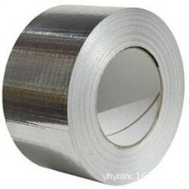 HVAC fiber glass duct insulation aluminum tape