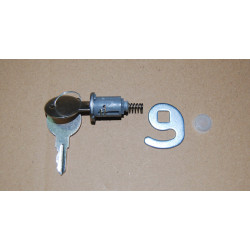 Lock with key for chest freezer door handle