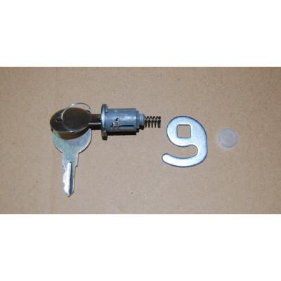 Lock with key for chest freezer door handle