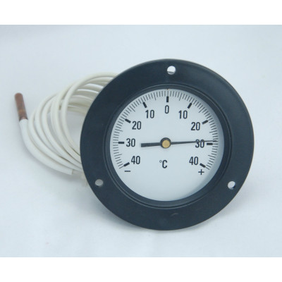 capillary thermometer  front mounting with 3 hole front flange WKR-40
