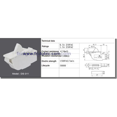 good quality refrigerator door switch on sales from China DS-011