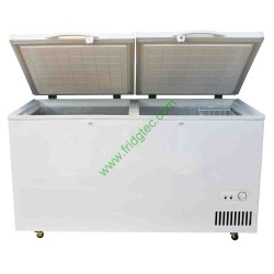 China good quality double door top open chest freezer BD-518