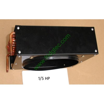 Copper tube aluminum fin condenser coil unit, cooling capacity 1/5 HP
