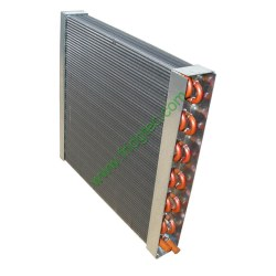 Copper tube heat exchanger with finned tube made in china