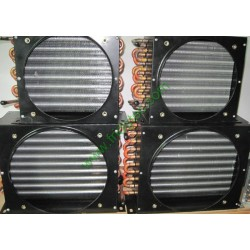 Frozen cabinet copper tube aluminum fin condenser coil