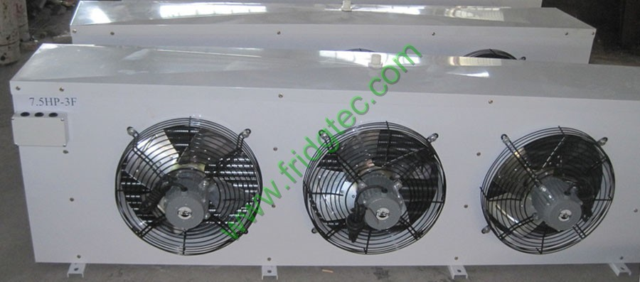 7 5hp 3 Fan Refrigeration Air Cooler Evaporator Coil On