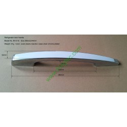 Silver chrome plated plastic door handle  for refrigerator fridge freezer, RH-010, Length 360mm